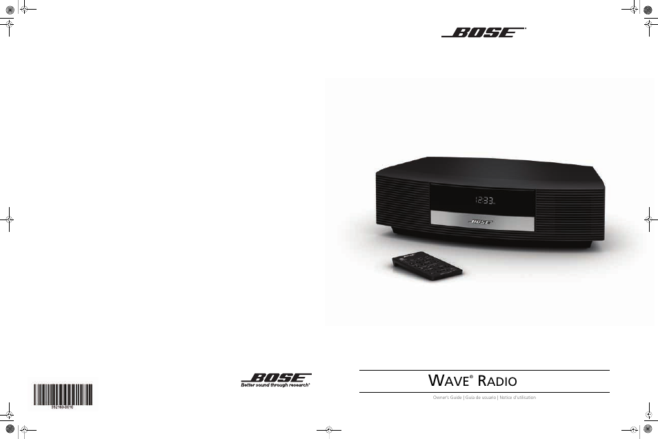 bose wave radio iii user manual 24 pages rh manualsdir com bose radio cd player owner's manual bose wave radio 3 owners manual