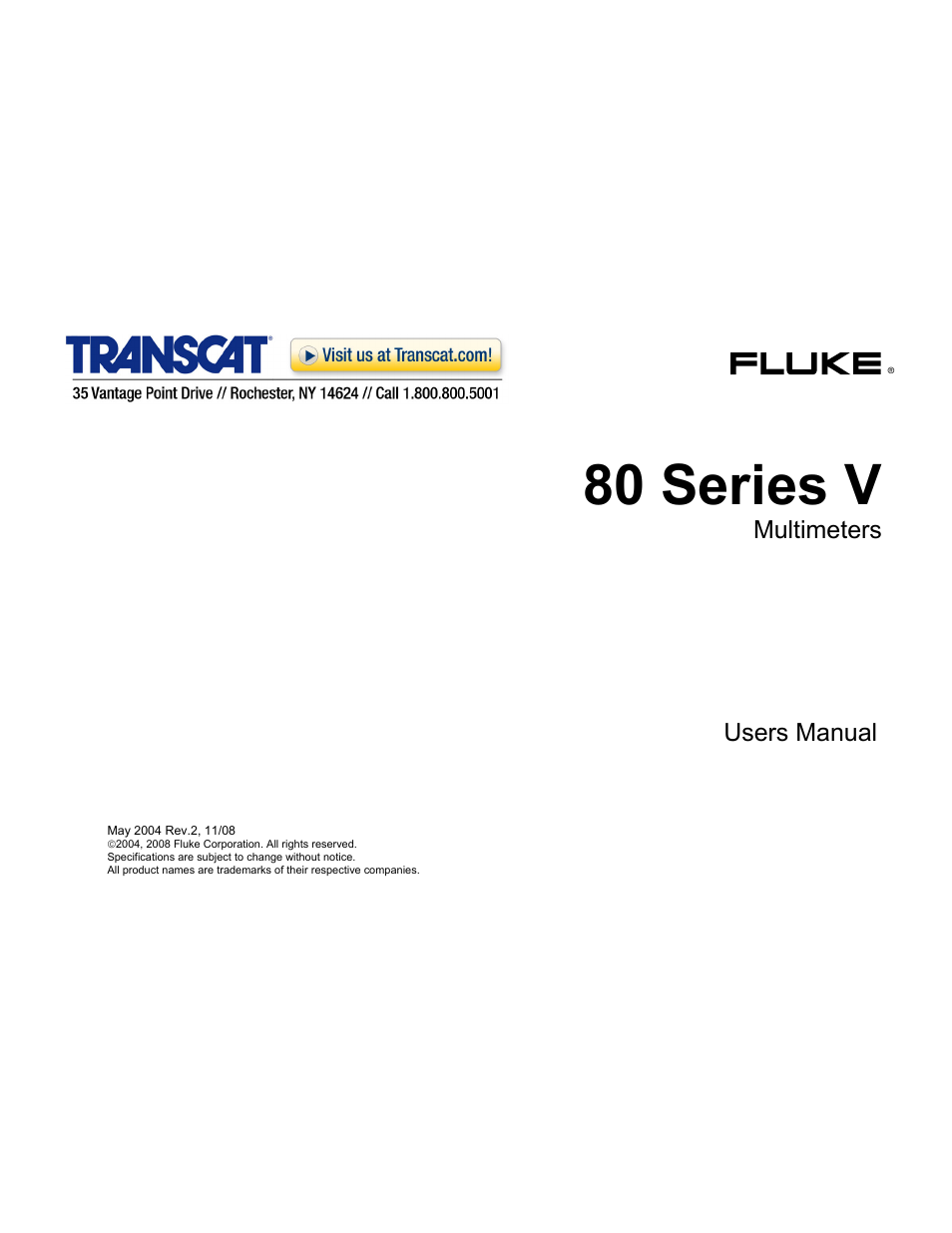 Fluke 87 V User Manual | 60 pages | Also for: 80 Series V