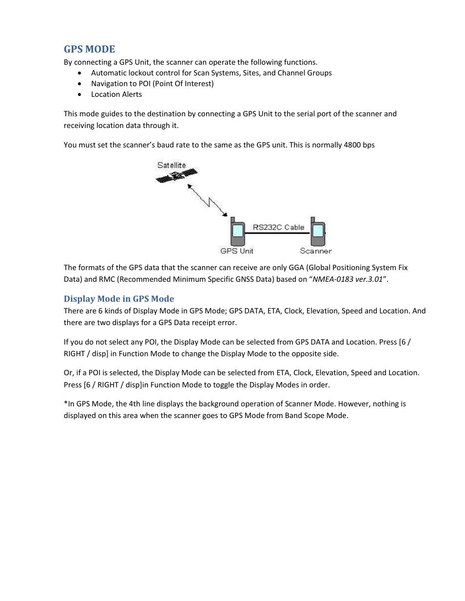 ... Array - gps mode display mode in gps mode uniden bcd396xt user manual  rh manualsdir com