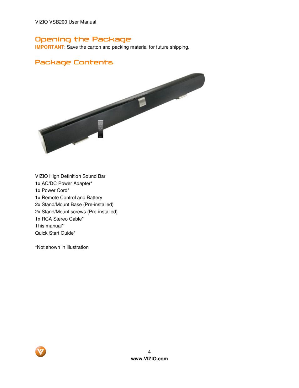 vizio vsb200 quick start guide product user guide instruction VSB200 Remote VSB200 Soundbar Remote