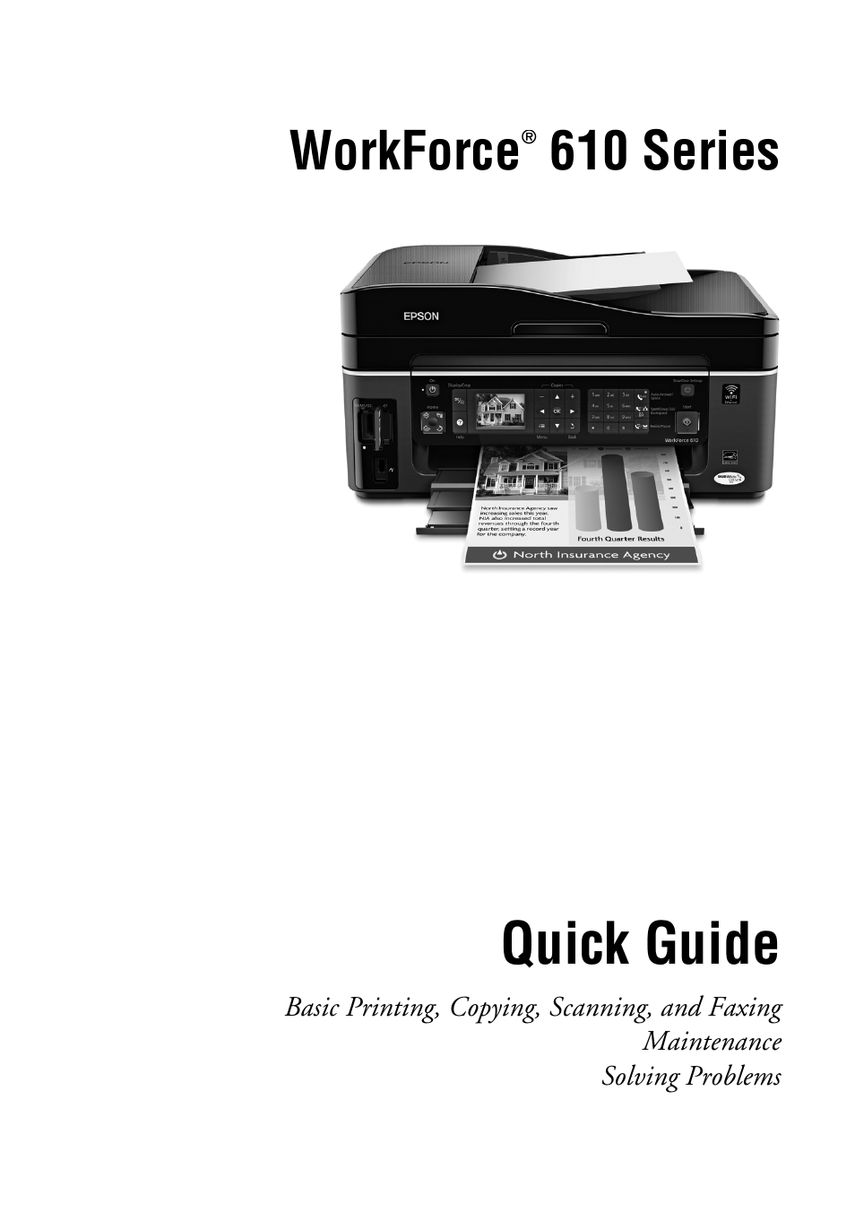epson workforce 610 series user manual 60 pages rh manualsdir com Epson Workforce 610 Ink Cartridge Epson Workforce 610 Ink