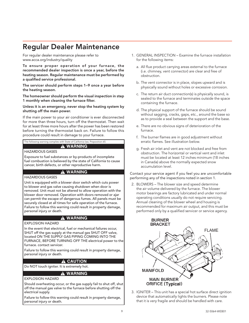 regular dealer maintenance trane xr80 user manual page 9 12 rh manualsdir com trane xr80 manual pdf trane xr80 furnace installation manual
