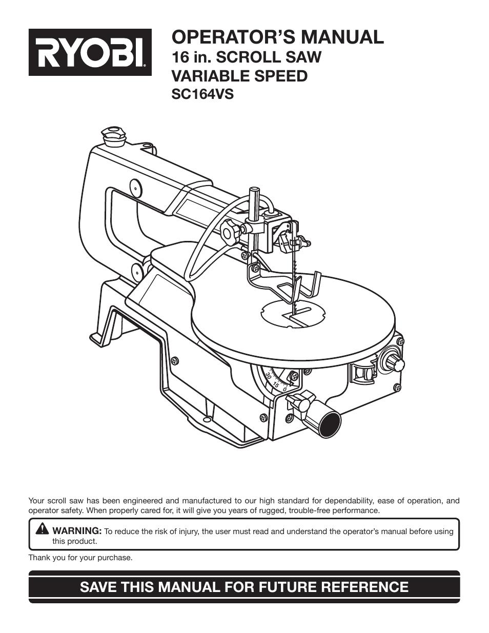 Ryobi s430 ry34441 user manual | page 3 / 56 | original mode.