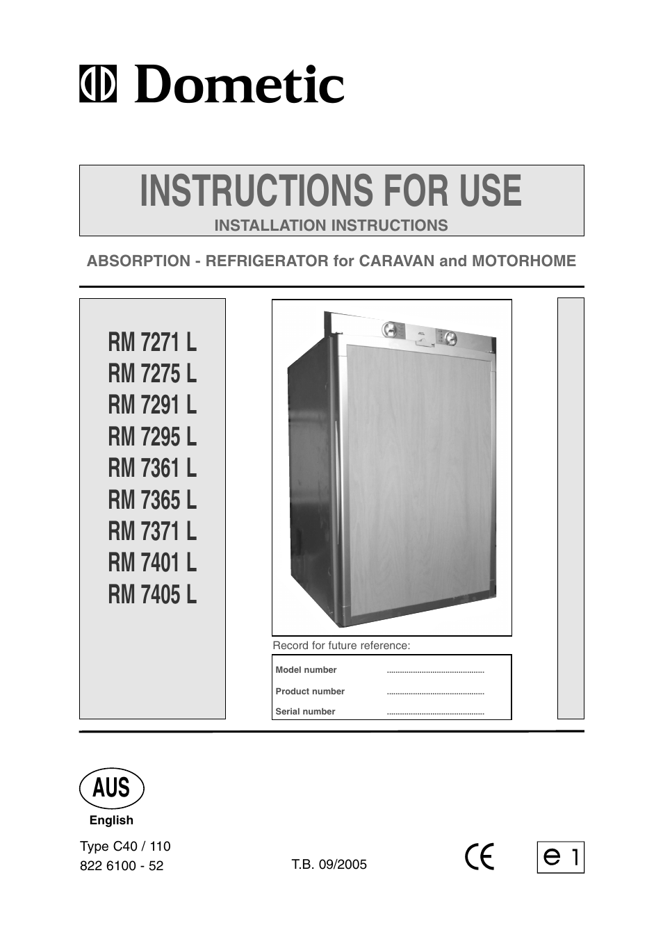 dometic rm 7361 l user manual 28 pages also for rm 7371 l rh manualsdir com dometic fridge user manual Dometic Refrigerator Manuals RC 4000