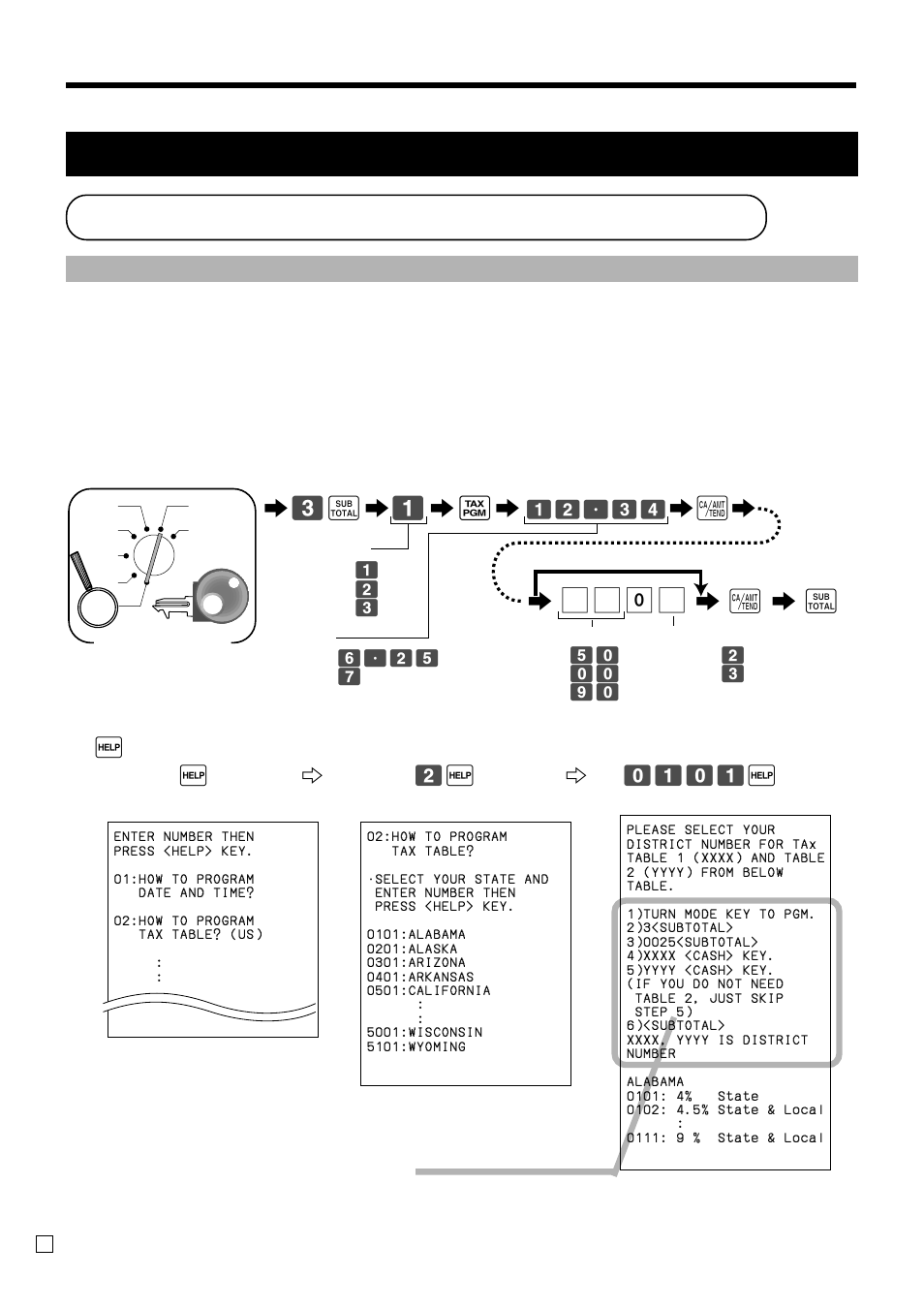 programming automatic tax calculation getting started tax table