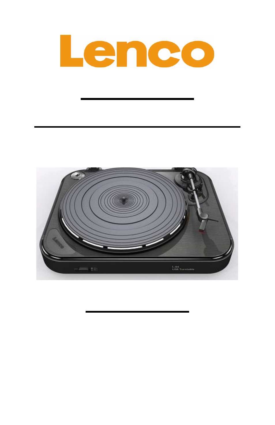 Lenco L-84 USB Record Player with USB Connection