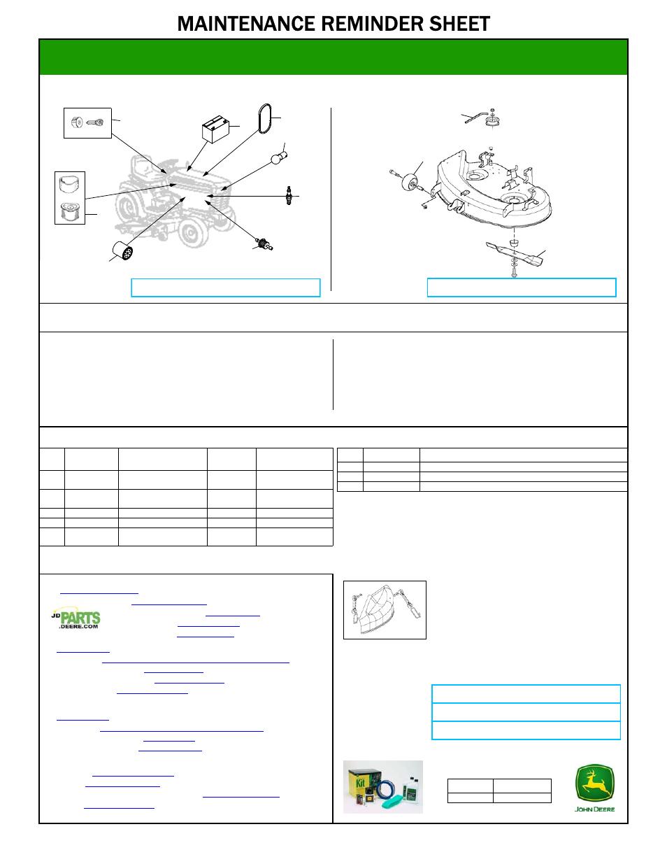 John Deere Lt155 User Manual 1 Page