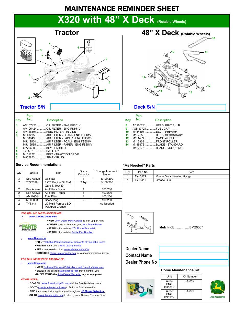 John Deere X320 Deck Belt Manual Guide