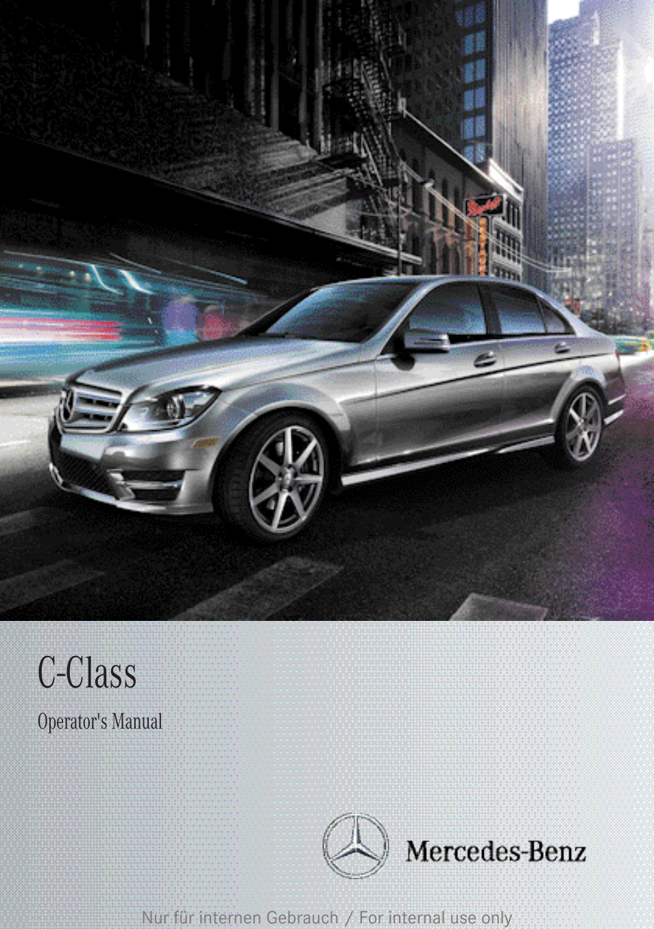 Mercedes benz 2013 c class sedan user manual 360 pages for 2013 mercedes benz c class sedan
