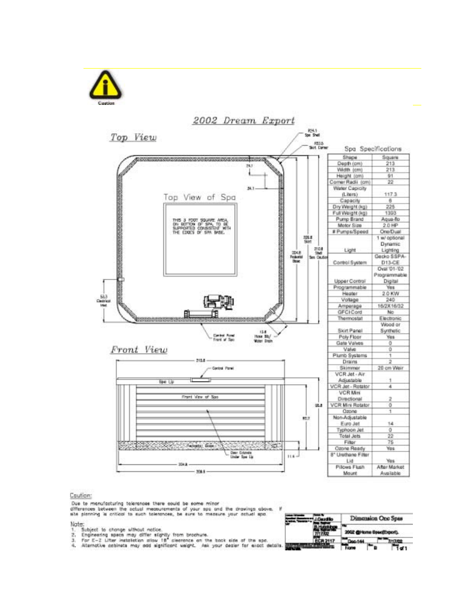 Dream | Dimension One Spas Home Hot Tubs User Manual | Page 27 / 36