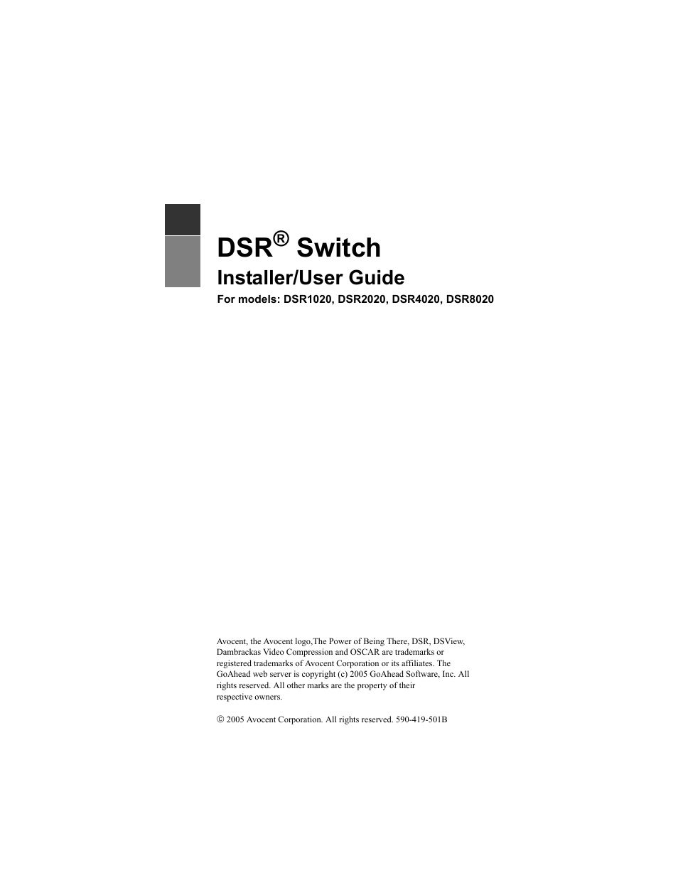 avocent dsr1020 user manual 96 pages also for dsr2020 dsr4020 rh manualsdir com User Guide Icon New Balance Manuals