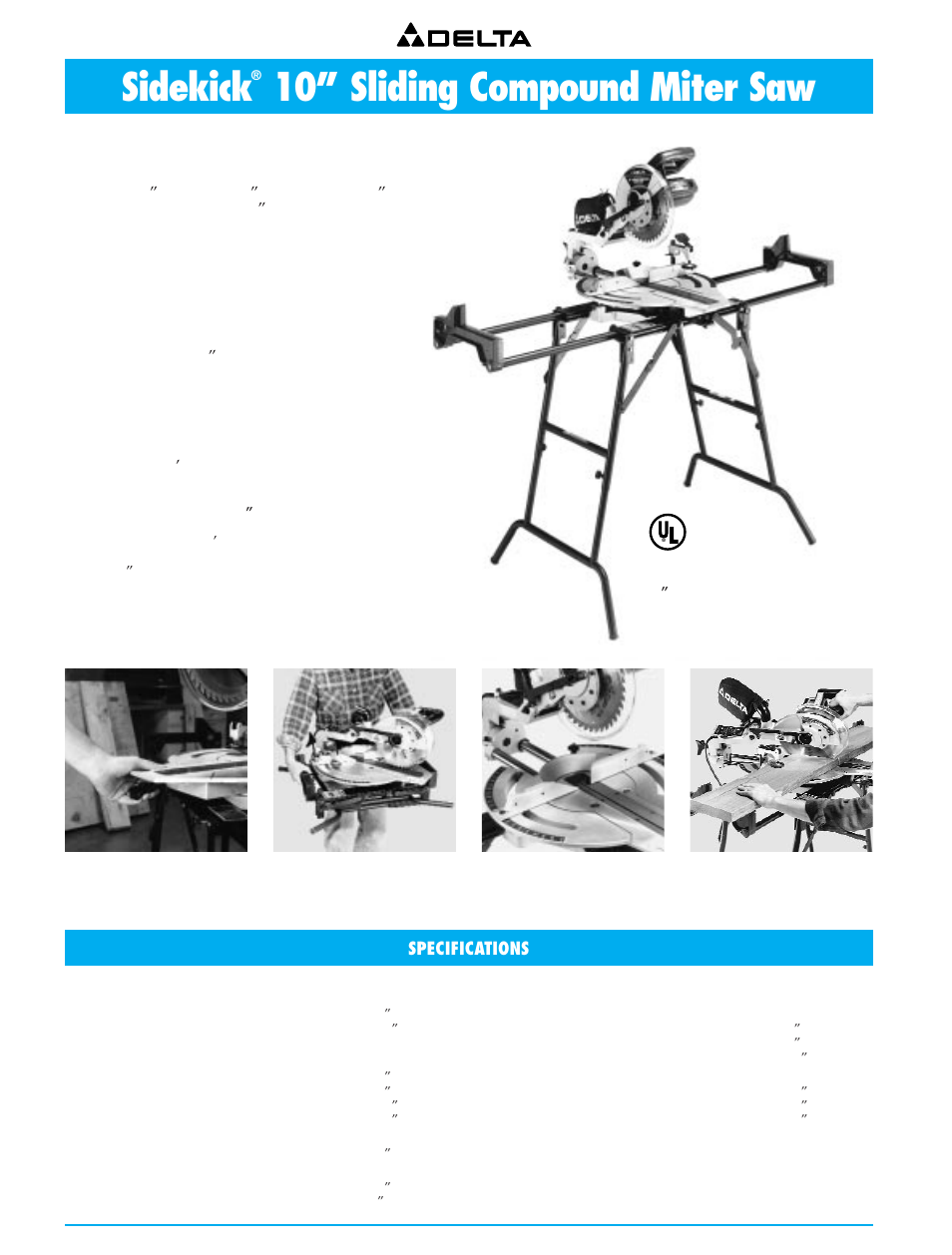 sidekick 10 sliding compound miter saw with stand sidekick 10 rh manualsdir com Wildgame Innovations Manuals Operators Manual