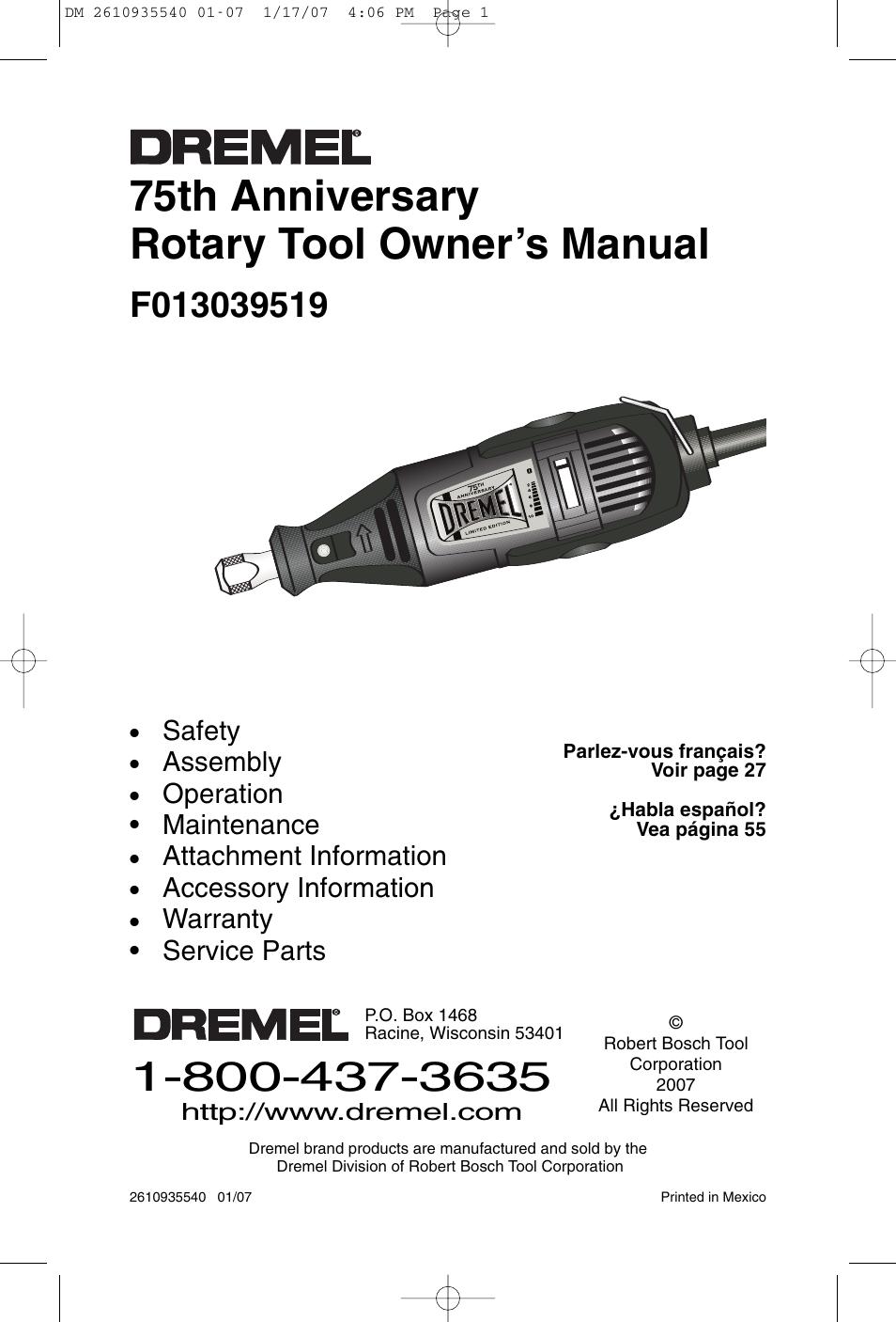 dremel f013039519 user manual 88 pages rh manualsdir com manual for dremel slicing software manual for dremel slicing software