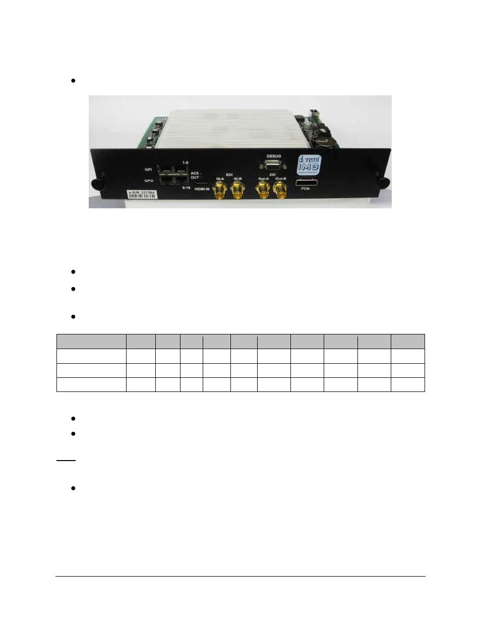 3 imb board installation proce...