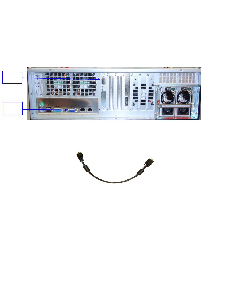 Rear Panel Connectors Vga Cable Connection For Server Lcd Screen Wiring Usage Pci Express Card On Doremi Showvault Imb User Manual Page 21 146