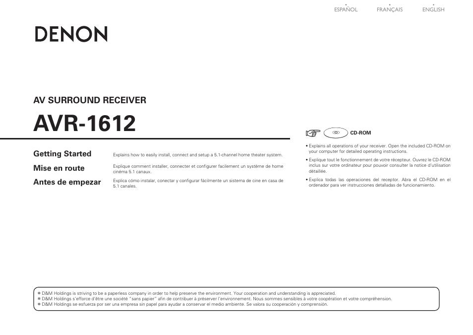 denon avr 1612 user manual 16 pages original mode rh manualsdir com denon avr-1612 manual setup Denon Service Manuals