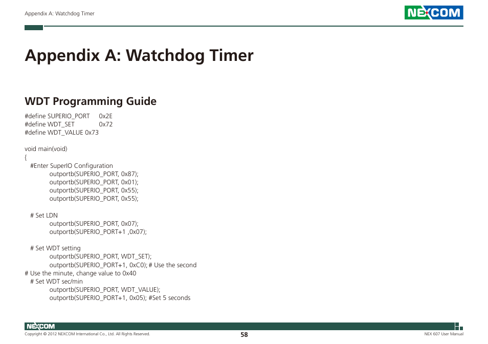 appendix a watchdog timer wdt programming guide nexcom nex 607 rh manualsdir com doro phoneeasy 607 user guide doro phoneeasy 607 user guide