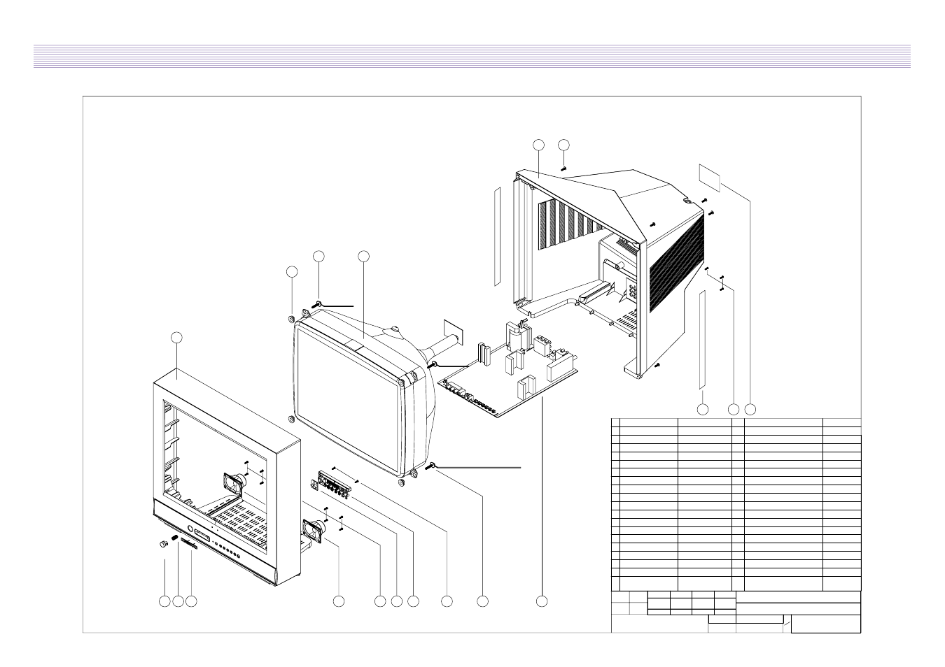 Exploded view, Daewoo electronics corp   Daewoo DTQ-2133SSN User Manual    Page 15