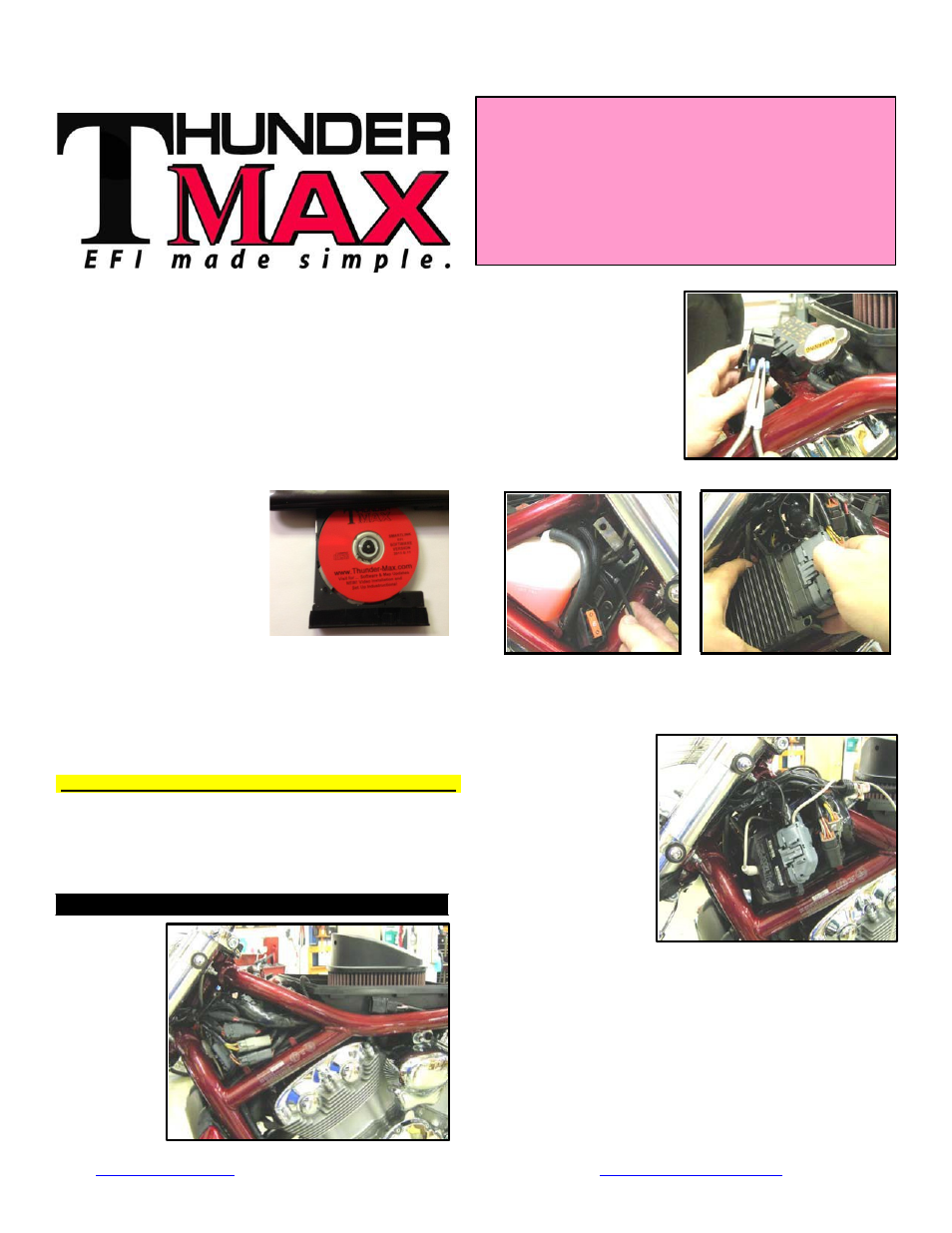 Thundermax Pn309 366 Genii V Rod User Manual 8 Pages Also For Motorcycle Fuse Box Clicking 466 364 Xr1200