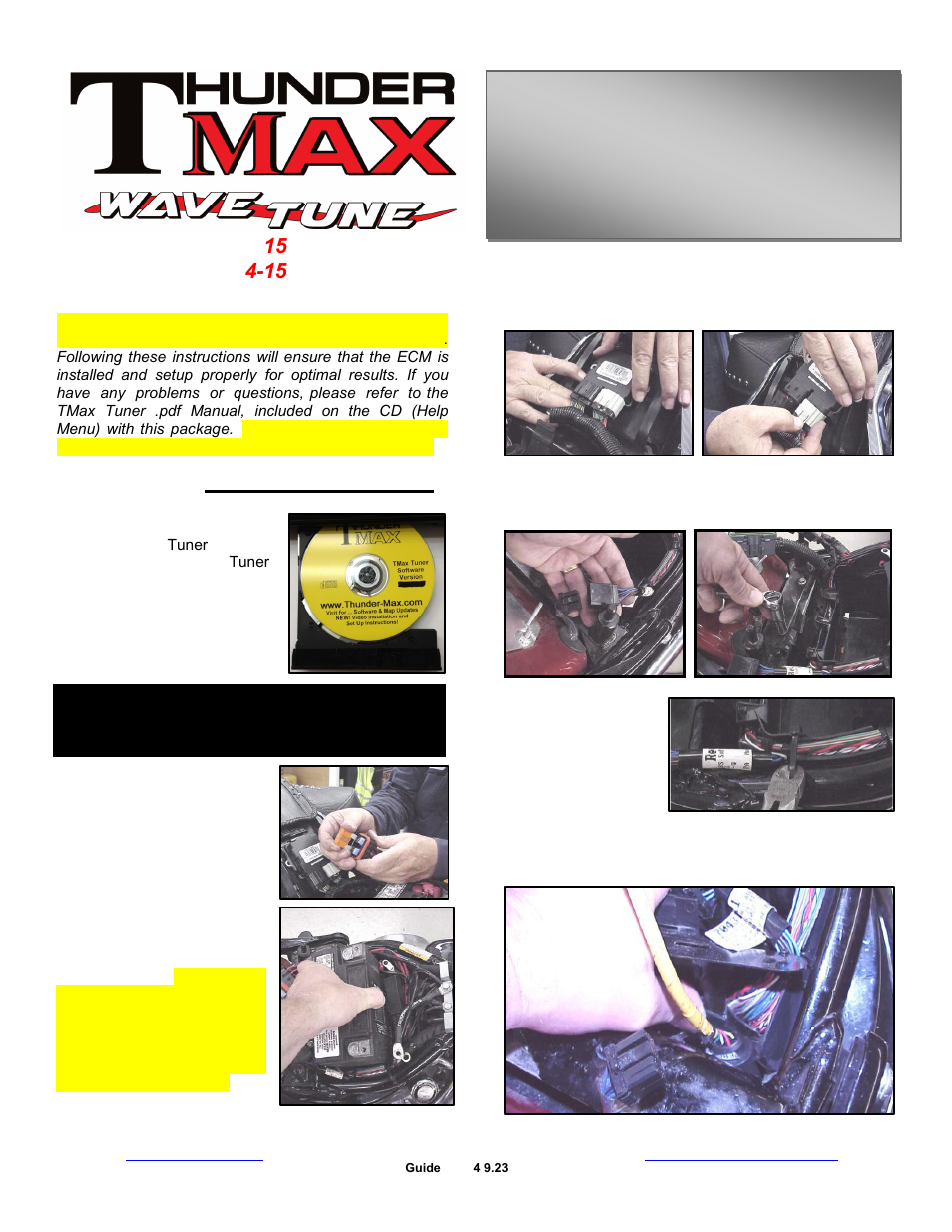 Thundermax Pn309 380 Sportster User Manual 9 Pages Also For Pn Motorcycle Wiring Harness Connectors 382 361 Cable Throttle 464 Xr1200 485