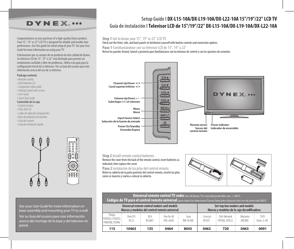 dynex dx l22 10a user manual 2 pages original mode rh manualsdir com dynex ds2 user manual dynex tv user manual