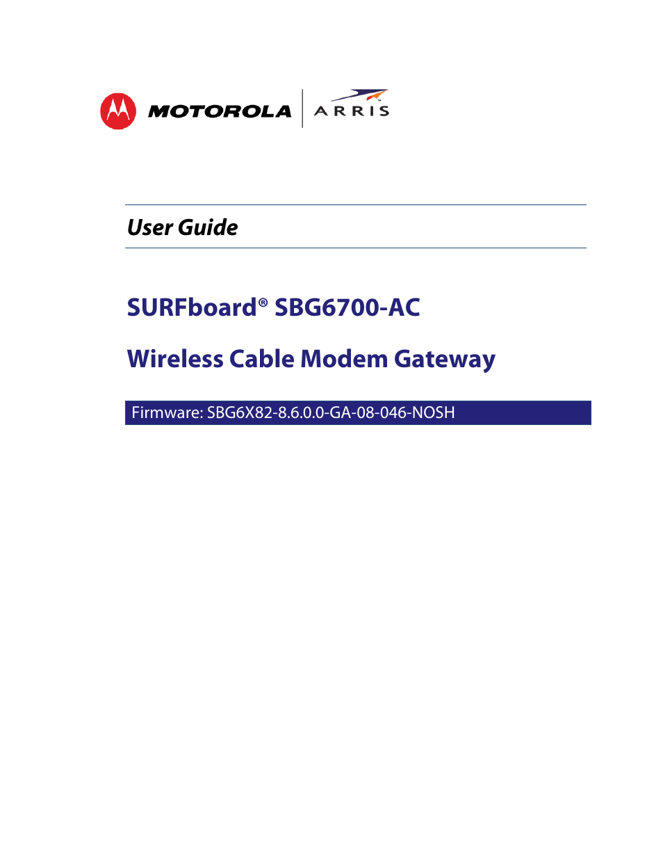 arris sbg6700 user guide user manual 86 pages rh manualsdir com Craftsman Snowblower Manual Craftsman LT 2000 Manual PDF