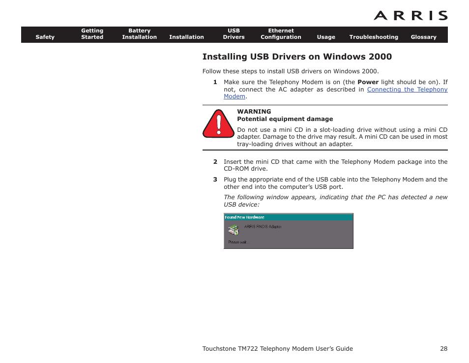 installing usb drivers on windows 2000, installing usb drivers on