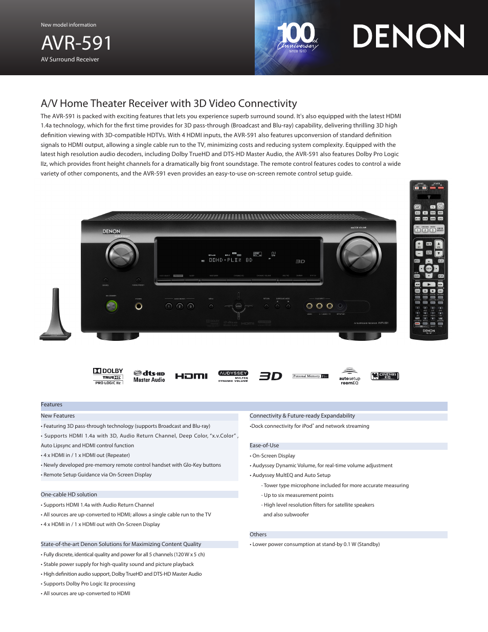 denon avr 591 user manual 2 pages rh manualsdir com denon receiver avr 591 manual denon avr-591 service manual