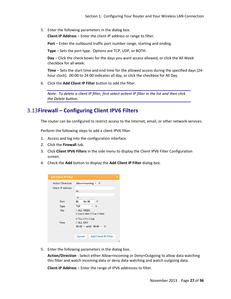13 Firewall U2013 Configuring Client Ipv6 Filters Manual Guide
