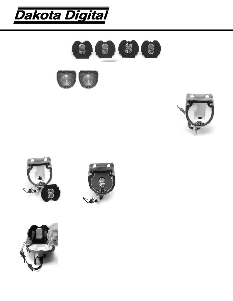 Dakota Digital LED Tail Lights for 1968 Impala LAT-NR251 User Manual | 2  pages