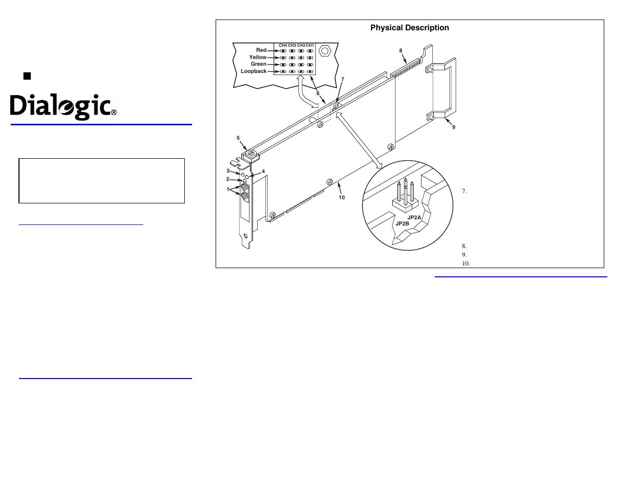 dialogic dm3 media boards dmv600btep user manual 2 pages rh manualsdir com Dialogic Reading Dialogic Software
