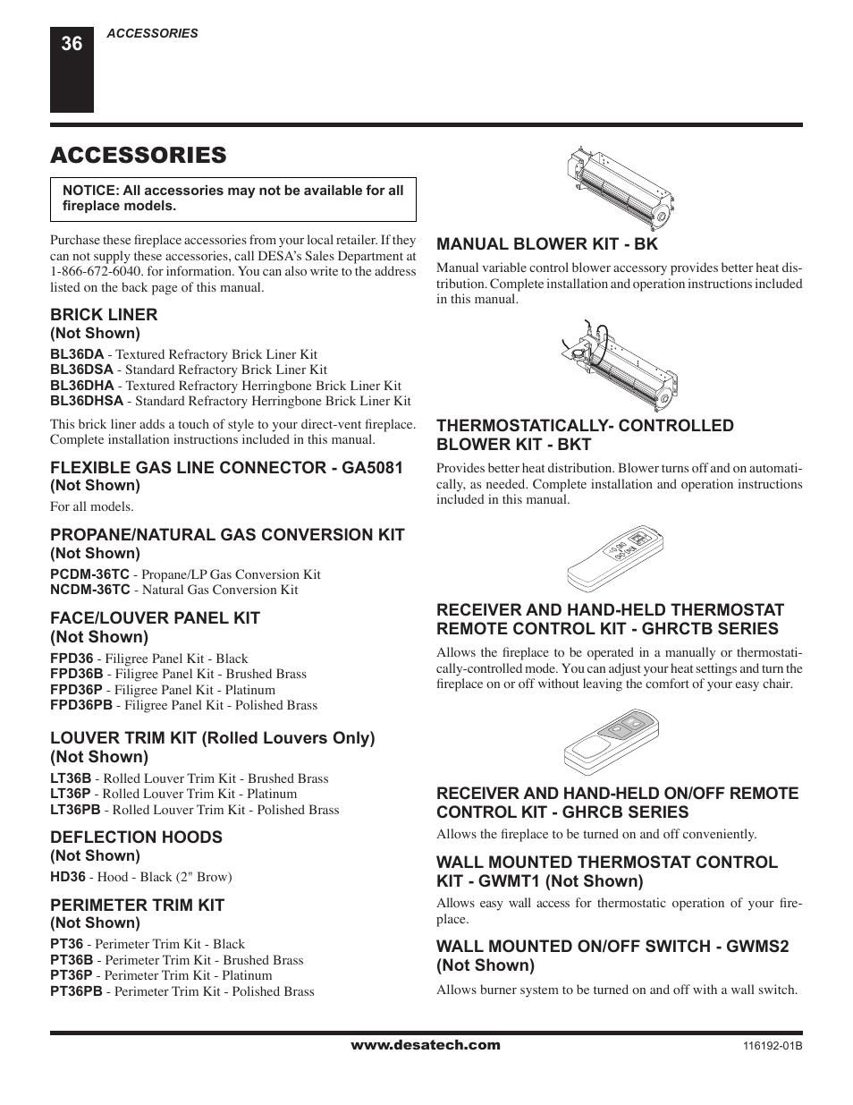 accessories desa v tc36n series user manual page 36 40