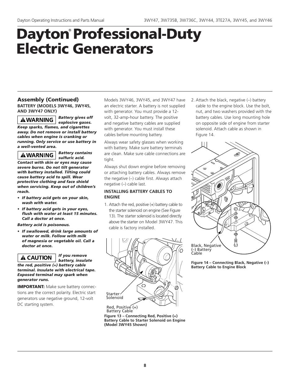 Dayton professional-duty electric generators | Dayton 3WY47