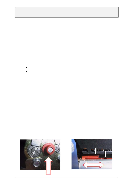Positioning of gap sensor | Avery Dennison TTX 450 User