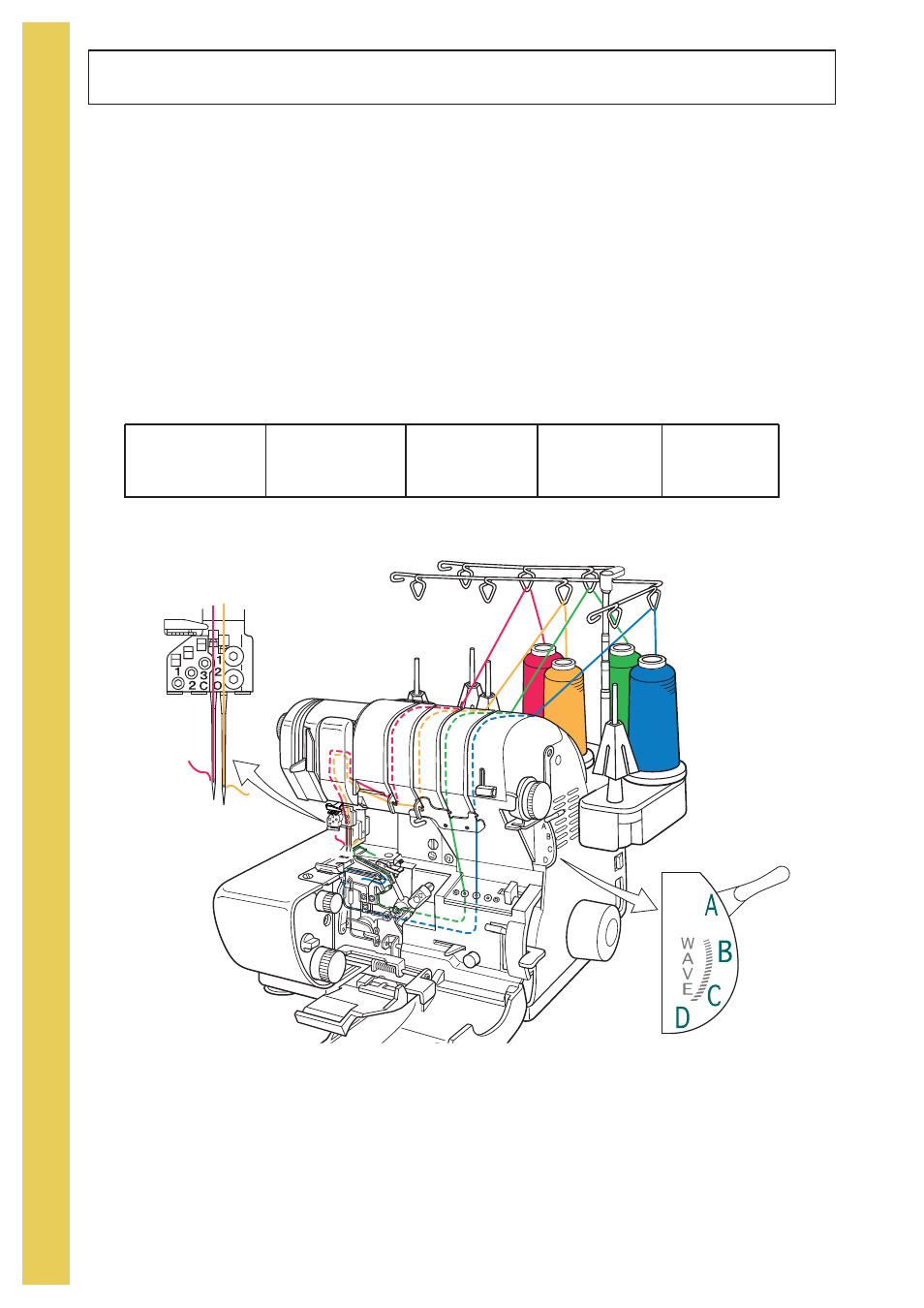 Thread Overlock Baby Lock Evolve Previous Model Ble8w Threading Diagram Instruction And Reference Guide User Manual Page 30 92