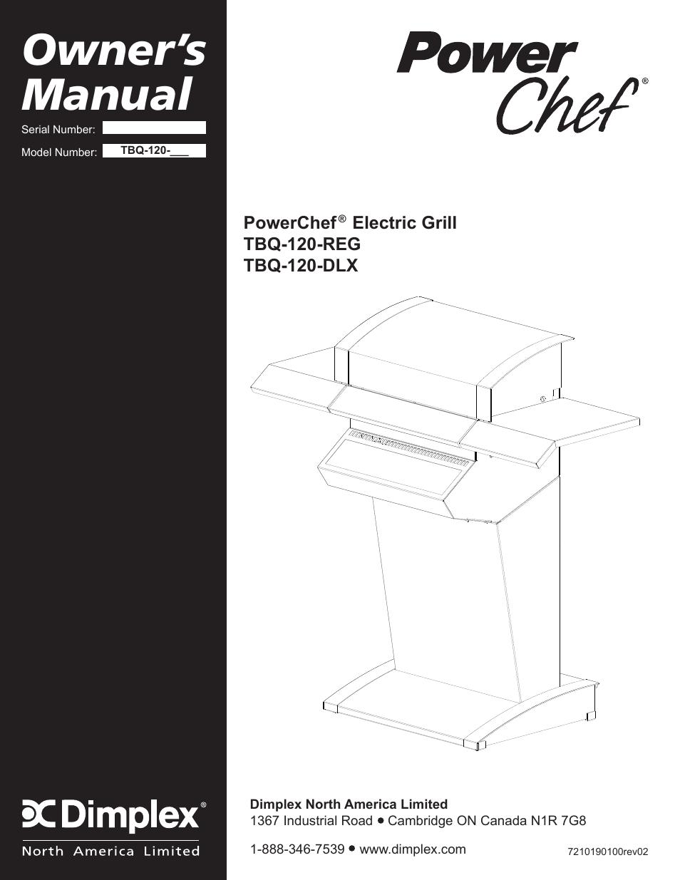 dimplex powerchef electric grill tbq 120 reg user manual 29