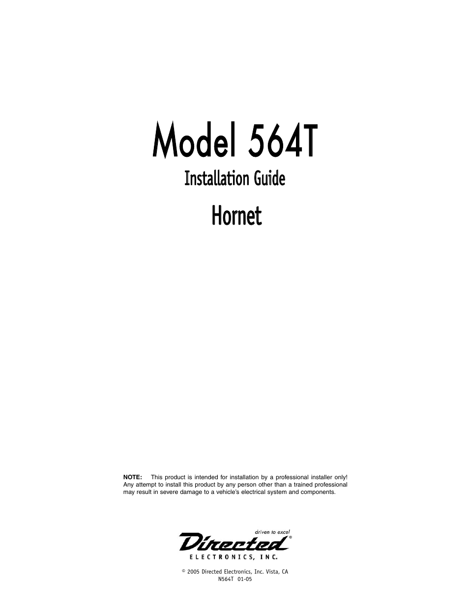 Directed-electronics hornet 564t download user guide for free.