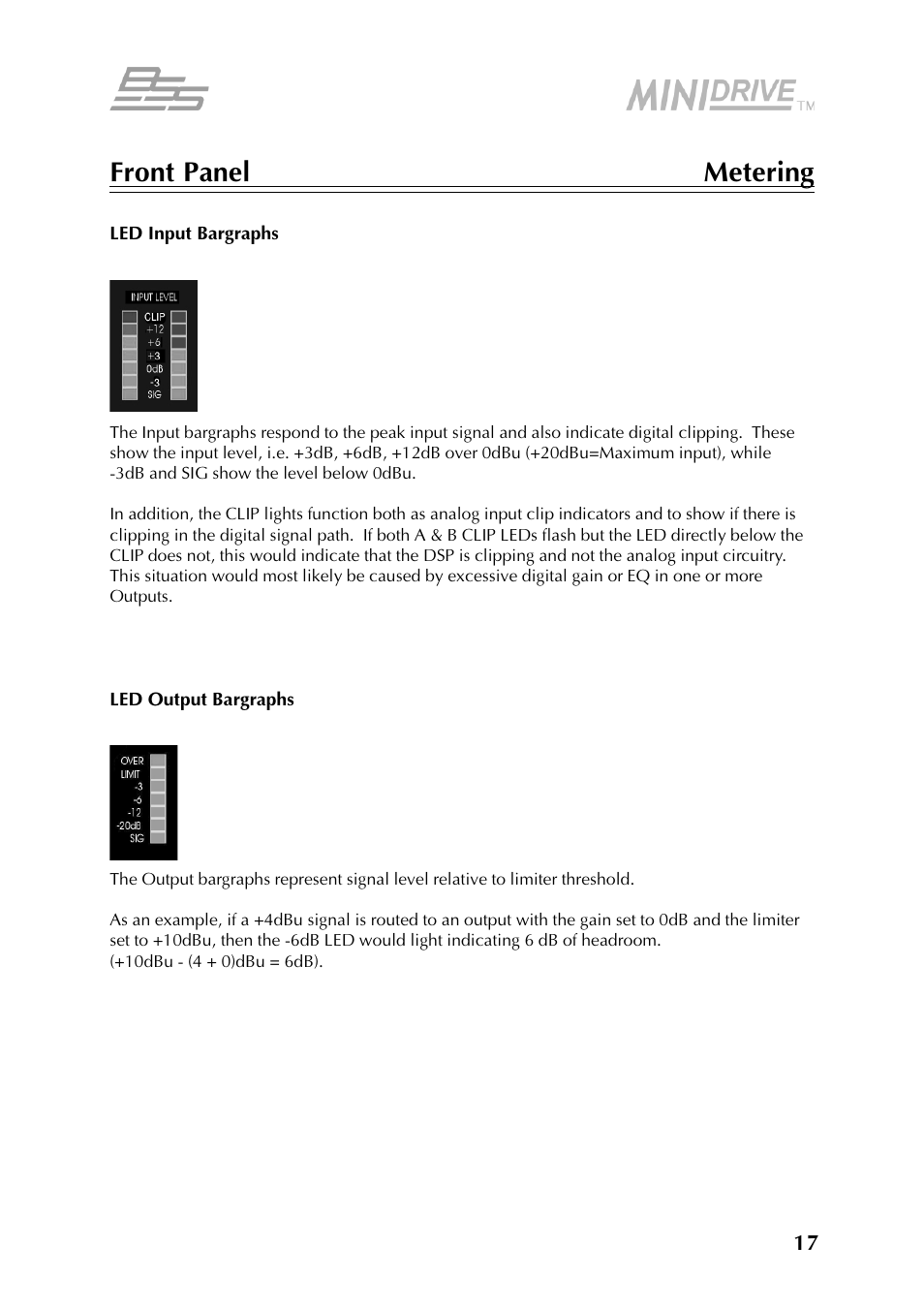 BSS Audio FDS-334T Owner's Manual User Manual | Page 17 / 56