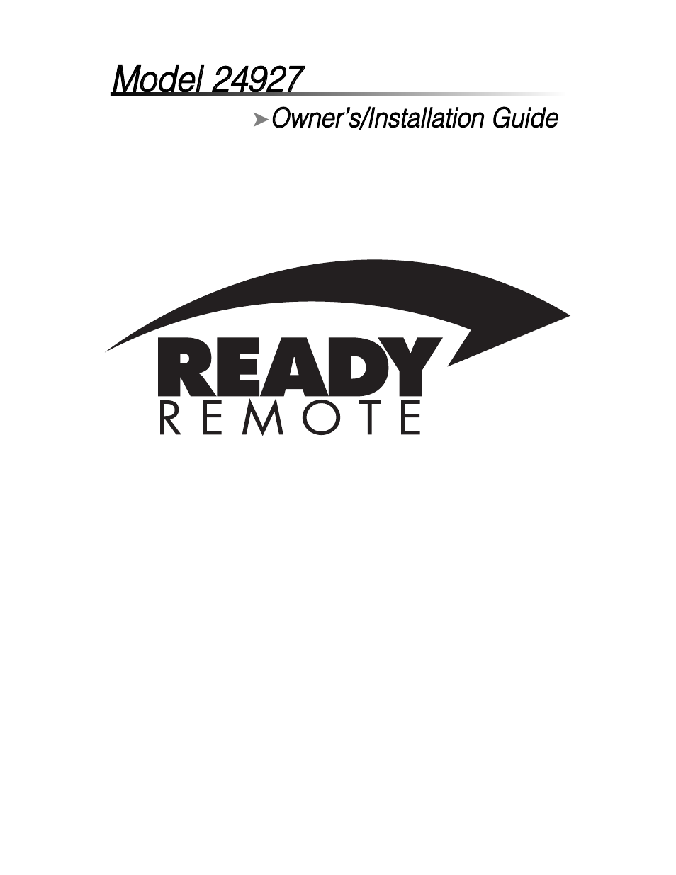 ready remote 24927 user manual 79 pages rh manualsdir com Owner's Manual User Manual PDF