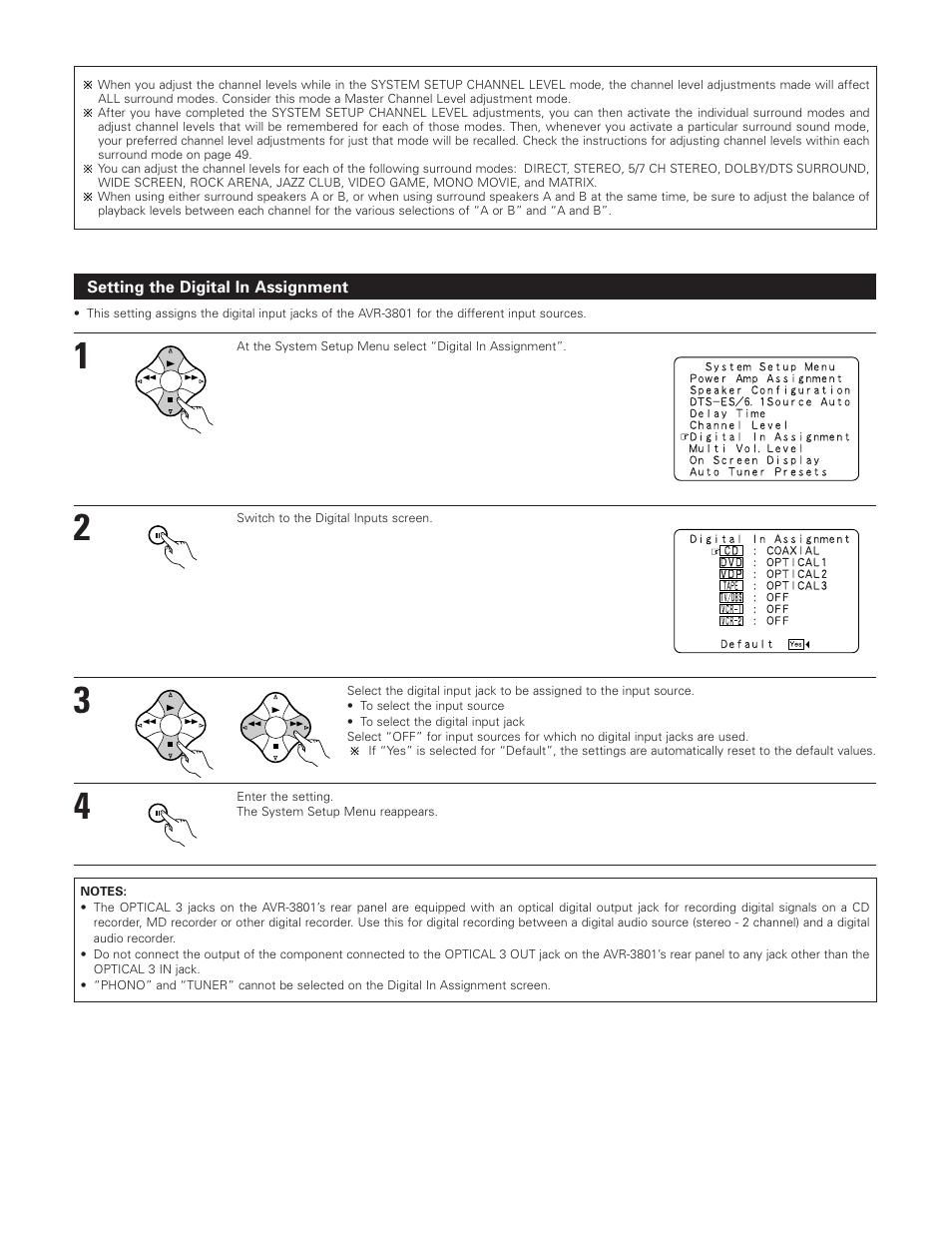denon 3801 manual