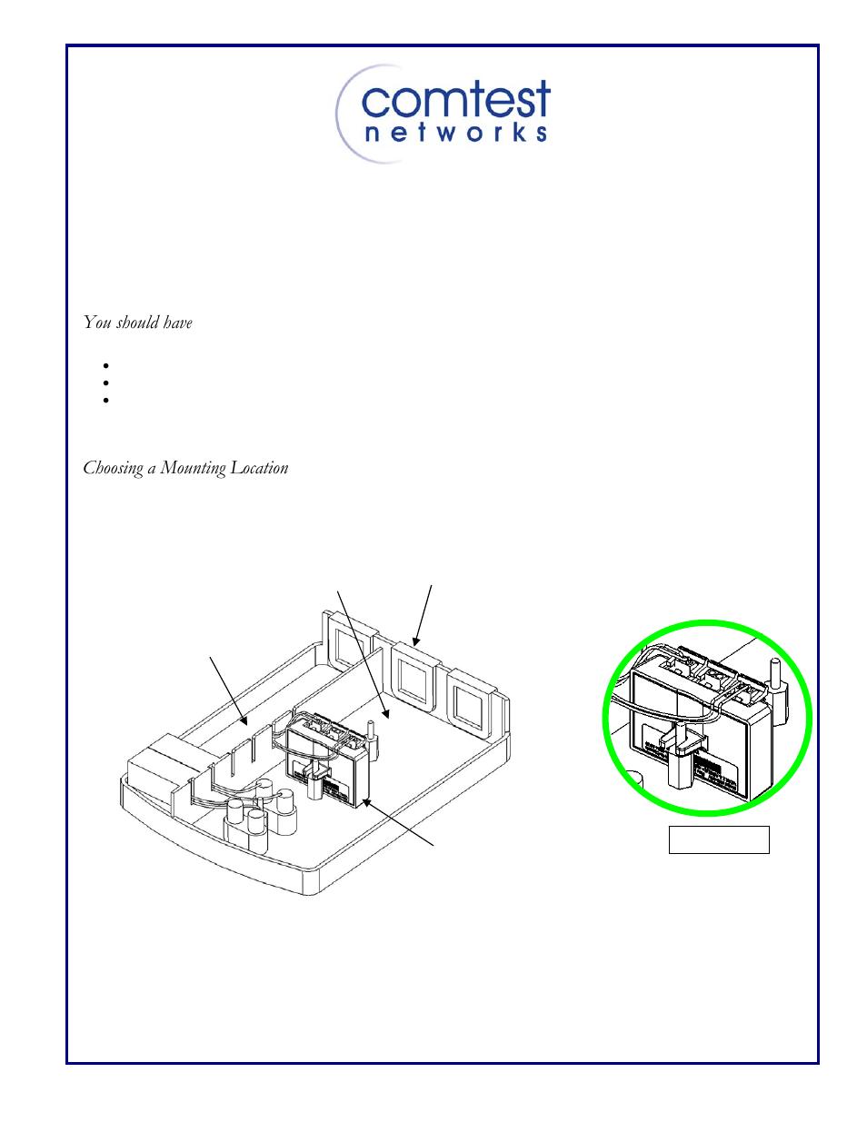 Comtest Networks Nid 01v Pots Splitter User Manual 2 Pages Wiring Diagram