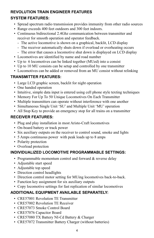 Crest Electronics Cre57000 Train Engineer Revolution