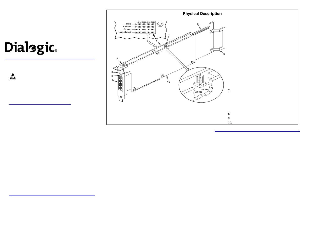 dialogic media board dmv1200btep user manual 2 pages rh manualsdir com Dialogic Communications Corp Dialogic Organization Develop
