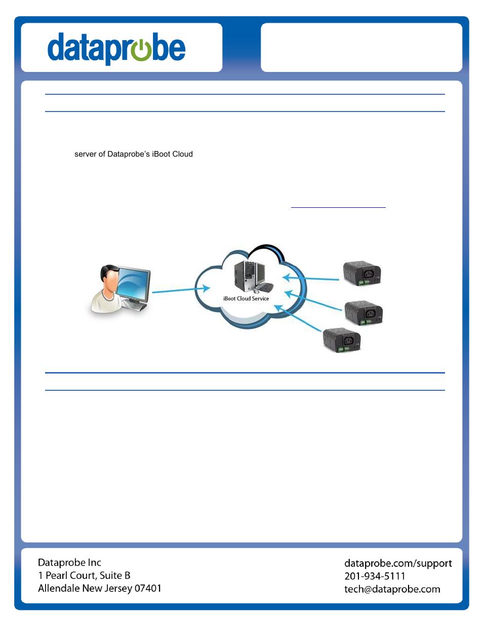 Dataprobe iBoot-G2 Cloud Service Setup Guide User Manual | 4