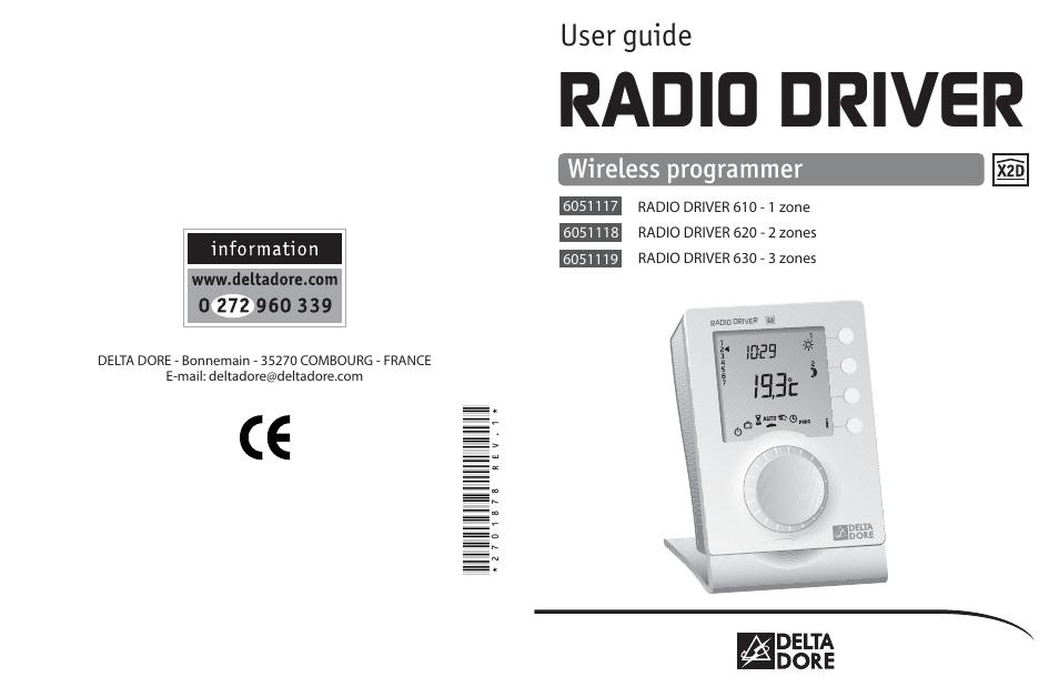 delta dore 620 radio driver user manual 16 pages