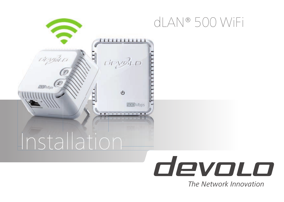 Dlan 500 devolo duo starter kit 2 x wifi installation manual setup.