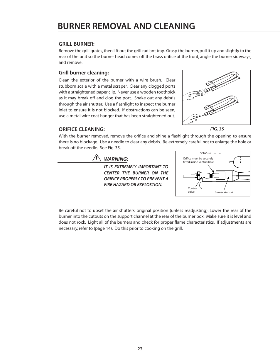 Burner removal and cleaning   DCS BGB30-BQR User Manual   Page 24