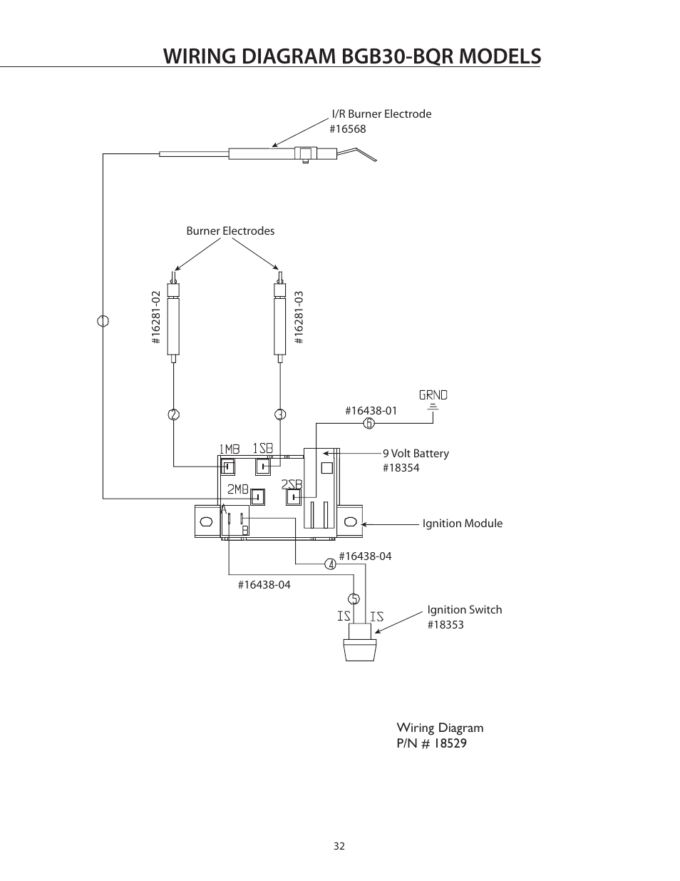 Wiring diagram bgb30-bqr models | DCS BGB30-BQR User Manual | Page 33 / 38