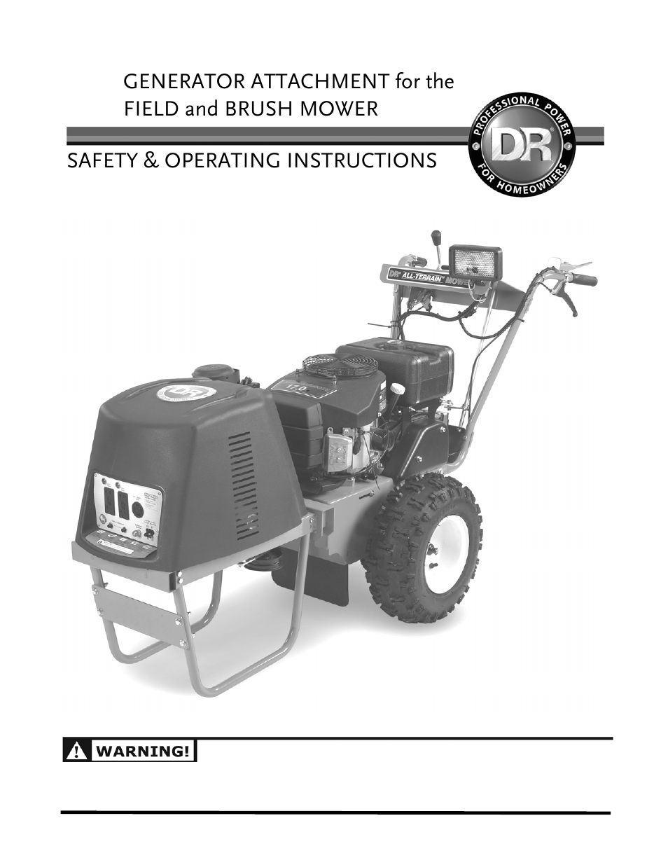 dr all terrain field and brush mower manual field. Black Bedroom Furniture Sets. Home Design Ideas
