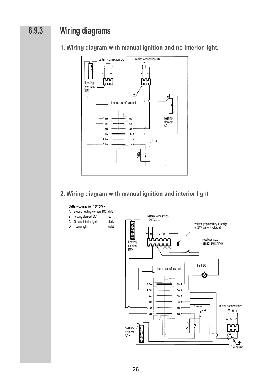 Wiring Diagrams Dometic Rm 6270l User Manual Page 26 28 24v Diagram